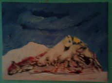 La chute finale du suicidé, tableau peint par Hermann Cebert