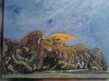 Le grand voisin, Pour que les dieux reviennent, tableau peint par Hermann Cebert