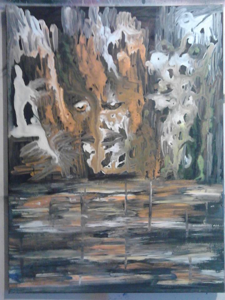 Le miroir de la solitude, tableau peint par Hermann Cebert