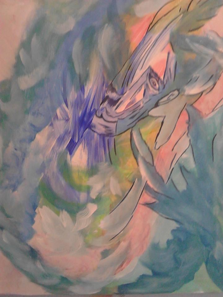 La face de l'inquiétude, tableau peint par Hermann Cebert