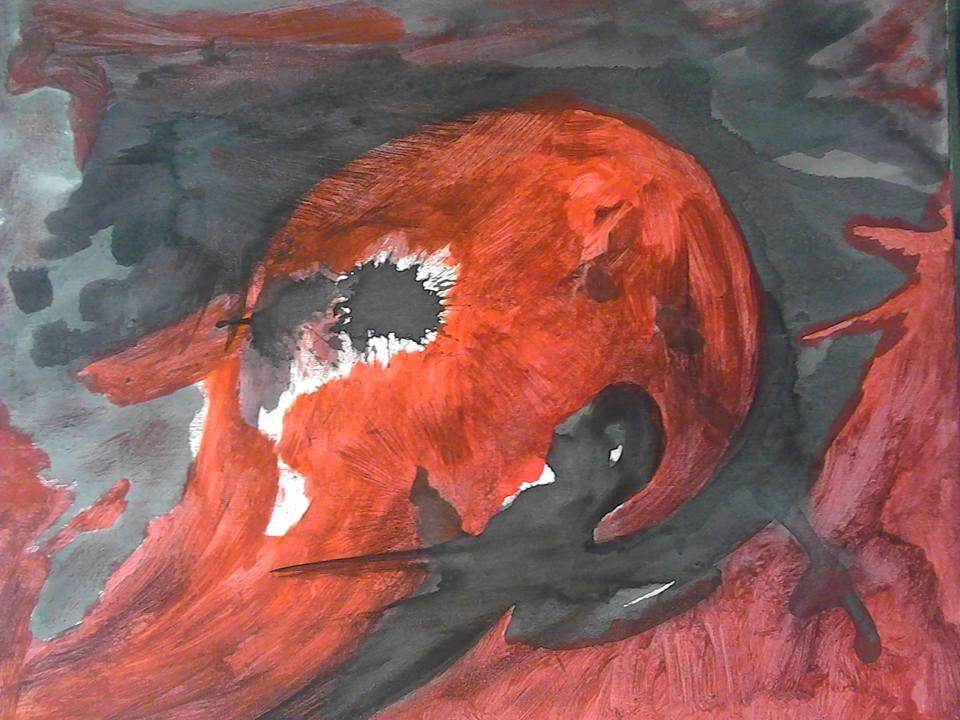 Le messager ou l'ange de la révolte, tableau peint par Hermann Cebert