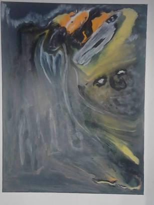 Avancer, perdre pieds ou reculer, tableau peint par Hermann Cebert