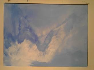 Couche inachevée, tableau peint par Hermann Cebert