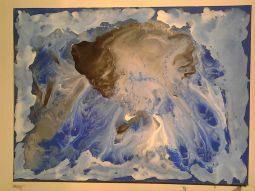 Goûte d'eau de la couche inachevée, tableau peint par Hermann Cebert
