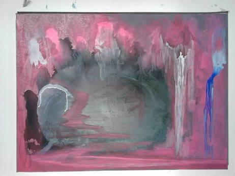 Ombre de l'infini, couche inachevée, tableau peint par Hermann Cebert
