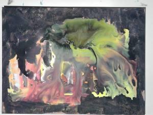 Parcelle d'ombre de l'inachevé, tableau peint par Hermann Cebert