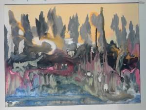 Point d'une parcelle de feu de l'inachevé, tableau peint par Hermann Cebert